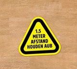 1,5 meter afstand vloerstickers 30x30 cm _