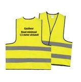 Gastheer / Gastvrouw hesje - Houd minimaal 1,5 meter afstand_