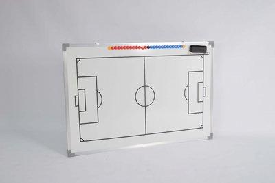 Coachbord voetbal - 45 x 60 cm - Inclusief draagtas en accessoires