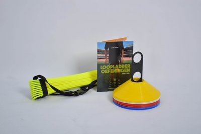 Combipakket   Loopladder 4 meter - boek loopladder oefeningen - pionnen 20 stuks