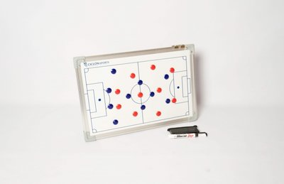 Coachbord voetbal - 30 x 45 cm - Inclusief draagtas en accessoires