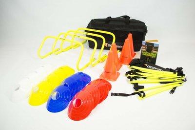 Trainingspakket XL | Loopladder 4 meter - boek loopladder oefeningen - kegels - pionnen - horden