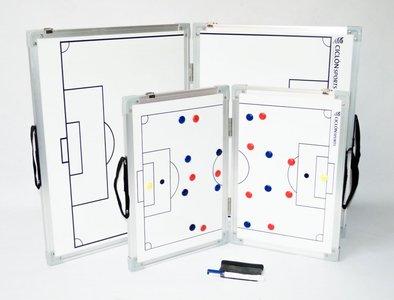 Opvouwbaar coachbord voetbal - 60 x 90 cm - Inclusief draagtas en accessoires