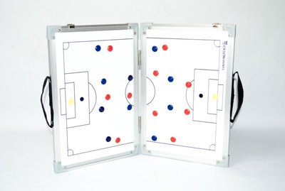Opvouwbaar coachbord voetbal - 45 x 60 cm - Inclusief draagtas en accessoires