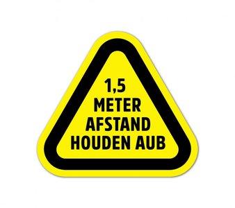 1,5 meter afstand vloerstickers 30x30 cm