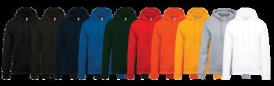Hoodie bedrukken - 10 beschikbare kleuren