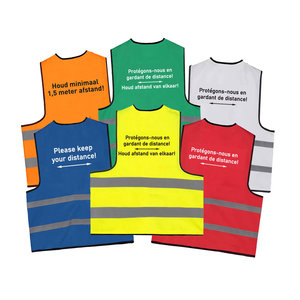 Keep distance safety vest - houd 1,5 meter afstand - houd afstand hesje